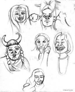Doodling (portraits-1)