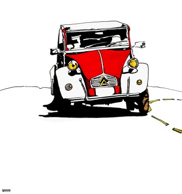 Première idée pour une illustration consacrée à une exposition collective (30ème anniversaire d'Illustration Québec)