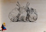 ...au verso de « Cigale & fourmis », un première idée (étape - 1)