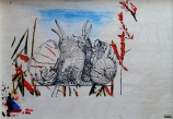 ...au verso de « Cigale & fourmis », un première idée (étape - 2)