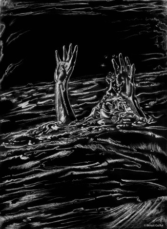 Illustration pour un recueil de ma composition (textes y compris - extraits : https://creations-guillot.com/maquette/)