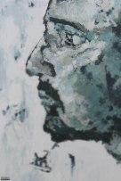 Seul et chauve (profil)