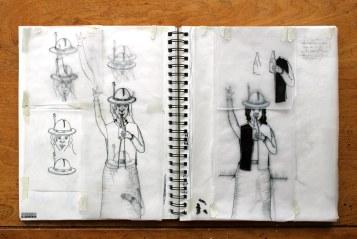 ...essais et erreurs, graphite et stylo, gêne et embarras.